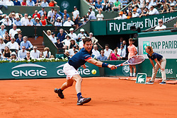 June 10, 2018 - Paris, U.S. - PARIS, FRANCE - JUNE 10:  DOMINIC THIEM (AUT)  during the French Open on June 10, 2018, at Stade Roland-Garros in Paris, France.(Photo by Chaz Niell/Icon Sportswire) (Credit Image: © Chaz Niell/Icon SMI via ZUMA Press)