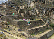 The ruins of Ollantaytambo. The Inca's greatest victory over the Spaniards was at this site.