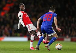 Nicolas Pepe of Arsenal passes the ball - Mandatory by-line: Arron Gent/JMP - 27/02/2020 - FOOTBALL - Emirates Stadium - London, England - Arsenal v Olympiacos - UEFA Europa League Round of 32 second leg
