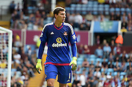 Sunderland goalkeeper Costel Pantilimon looks on. Barclays Premier League match, Aston Villa v Sunderland at Villa Park in Birmingham, Midlands on Saturday 29th August  2015.<br /> pic by Andrew Orchard, Andrew Orchard sports photography.
