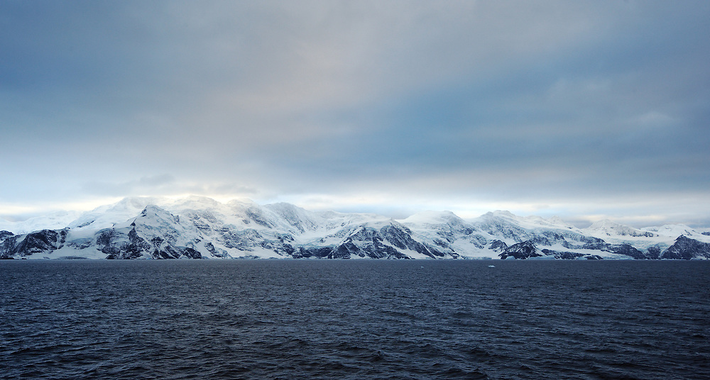 Coronation Island South Orkney Islands snow ice mountain glacier sea Antarctica south Atlantic southern ocean beach  Shingle Cove barndigital