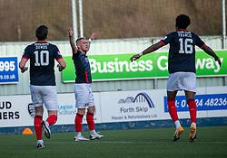 20MAR21 Falkirk's Callum Morrison cele scoring their second goal. Falkirk 2 v 0 Montrose, Scottish Football League Division One game played 20/3/2021 at The Falkirk Stadium.