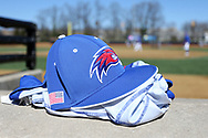 WINSTON-SALEM, NC - MARCH 04: UMass Lowell hat and jersey. The Wake Forest University Demon Deacons hosted the UMass Lowell River Hawks on March 4, 2018, at David F. Couch Ballpark in Winston-Salem, NC in a Division I College Baseball game. Wake Forest won the game 14-7.