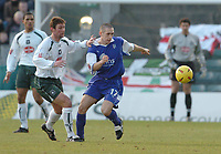 Fotball<br /> England 2004/22005<br /> Foto: BPI/Digitalsport<br /> NORWAY ONLY<br /> <br /> Gillingham v Plymouth Argyle <br /> Coca Cola championship. 15/01/2005.<br /> <br /> Gillinghams Andrew Cofts battles with Plymouths Lee Hodges