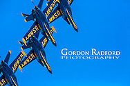 US NAVY BLUE ANGELS FLYING OVER THE MISSOURI RIVER 5/4/2014