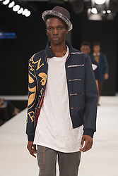 """© Licensed to London News Pictures. 02/06/2015. London, UK. Collection by Abigal Panton, Northumbria University. Runway show """"Best of Graduate Fashion Week 2015"""". Graduate Fashion Week takes place from 30 May to 2 June 2015 at the Old Truman Brewery, Brick Lane. Photo credit : Bettina Strenske/LNP"""