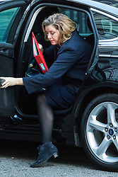 London, January 16 2018. Secretary of State for International Development Penny Mordaunt attends the UK cabinet meeting at Downing Street. © Paul Davey
