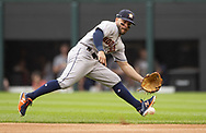 CHICAGO - AUGUST 14:  Jose Altuve #27 of the Houston Astros fields against the Chicago White Sox on August 14, 2019 at Guaranteed Rate Field in Chicago, Illinois.  (Photo by Ron Vesely/MLB Photos via Getty Images)  *** Local Caption *** Jose Altuve