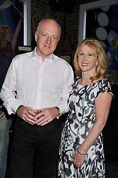 ANNA HUNTER and GRAHAM BONHAM-CARTER at a party in aid of the Sebastian Hunter Memorial Trust held at Bunga Bunga, 37 Battersea Bridge Road, London SW11 on 21st June 2012.