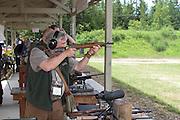 Rifle shooting at a gun range