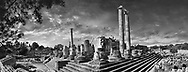 Sacred Stone - Black and white photo art print of the Didyma Temple of Apollo  by Paul Williams. Picture of the ruins of the Ancient Ionian Greek Didyma Temple of Apollo & home to the Oracle of Apollo. Also known as the Didymaion completed circa 550 BC. modern Didim in Aydin Province, Turkey. .<br /> <br /> Visit our LANDSCAPE PHOTO ART PRINT COLLECTIONS for more wall art photos to browse https://funkystock.photoshelter.com/gallery-collection/Places-Landscape-Photo-art-Prints-by-Photographer-Paul-Williams/C00001WetsxVxNTo
