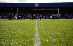 2 September 2017 - Charity Football - Game 4 Grenfell - The players and volunteers lay wreaths and hold a minutes silence before kick off - Photo: Charlotte Wilson