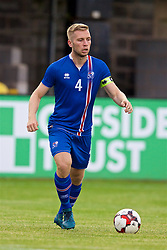 RHYL, WALES - Monday, September 4, 2017: Iceland's Torfi T.Gunnarsson during an Under-19 international friendly match between Wales and Iceland at Belle Vue. (Pic by Paul Greenwood/Propaganda)