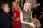 ROBERTO CAVALLI; LADY VICTORIA HERVEY; CAROLINE; HABIB, , Party to celebrate the launch of the new Cavalli Store. Roberto Cavalli. Sloane st. London. 17 September 2011. <br /> <br />  , -DO NOT ARCHIVE-© Copyright Photograph by Dafydd Jones. 248 Clapham Rd. London SW9 0PZ. Tel 0207 820 0771. www.dafjones.com.