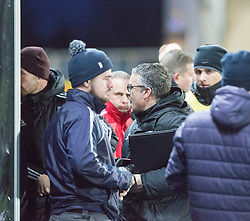Ayr United's manager Ian McCall at the end. Falkirk 1 v 1 Ayr United, Scottish Championship game played 14/1/2017at The Falkirk Stadium .