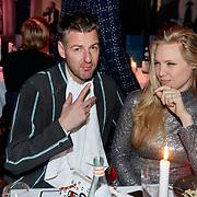 NLD/Amsterdam/20181206 - JFK Beste Geklede Man 2018, Freddy Tratlehner en partner Elza Jo van Reenen