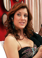 28 April 2006: Kate Walsh on her blackberry phone in the Exclusive behind the scenes photos of celebrity television stars in the STAR greenroom at the 33rd Annual Daytime Emmy Awards at the Kodak Theatre at Hollywood and Highland, CA. Contact photographer for usage availability.