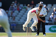 Northants Steelbacks J Overton  during the Specsavers County Champ Div 2 match between Lancashire County Cricket Club and Northamptonshire County Cricket Club at the Emirates, Old Trafford, Manchester, United Kingdom on 14 May 2019.
