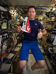 French cosmonaut Thomas Pesquet, takes photos on board International Space Station, on November 27, 2016. Photo by ESA via Balkis Press/ABACAPRESS.COM