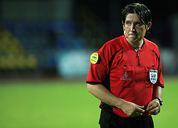 Referee Robert Krajnc at Slovenian Supercup between NK Domzale and NK Interblock, on July 9, 2008, in Domzale. Interblock won the mach and Supercup 7:6 after penalty shots.. (Photo by Vid Ponikvar / Sportal Images)
