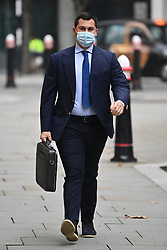 © Licensed to London News Pictures. 07/12/2020. London, UK. TEMUR AKHMEDOV arrives at The High Court in London. Tatiana Akhmedova, who is locked in a multi-million pound divorce settlement battle with her ex husband, Russian billionaire Farkhad Akhmedov, claims her son, Temur, helped his father to hide assets. Photo credit: Ben Cawthra/LNP