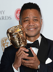 Cuba Gooding Jr, accepting the International award for 'The People Vs. OJ Simpson' in the winners photo area at the Virgin British Academy Television Awards (BAFTA) held at the Royal Festival Hall, Southbank, London. Photo credit should read: Doug Peters/ EMPICS Entertainment