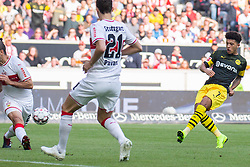 20.10.2018, Fussball, 1. Bundesliga, VfB Stuttgart - Boussia Dortmund, v.l. Tor zum 0:1 durch Jadon Sancho  (Credit Image: © Kevin Voigt/Xinhua via ZUMA Wire)