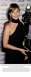Model KATE MOSS at a reception in Buckinghamshire on 11th June 2001.OPB 367