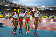 Mcc0055084 . Daily Telegraph<br /> <br /> England's Women's 4x100m Relay Team after winning Bronze on Day 10 of the 2014 Commonwealth Games in Glasgow .<br /> <br /> <br /> Glasgow 2 August 2014