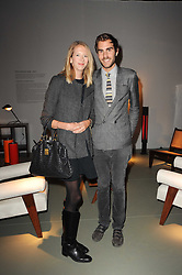 Private View of the Pavilion of Art & Design London 2010 held in Berkeley Square, London on 11th October 2010.<br /> Picture Shows:- OSCAR HUMPHRIES and the HON.FLORA HESKETH.