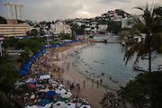 ACAPULCO, MEXICO - AUGUST 5, 2015: View of the beach Caleta and Caletilla in Acapulco, Mexico. Rodrigo Cruz for The New York Times