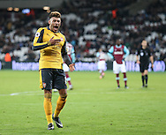 Arsenal's Alex Oxlade-Chamberlain celebrates scoring his sides fourth goal during the Premier League match at the London Stadium, London. Picture date December 3rd, 2016 Pic David Klein/Sportimage