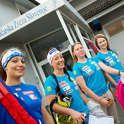 20140805: SLO, Alpine Ski - Departure of Slovenian Women Ski Team to Argentina