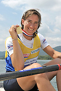 Banyoles, SPAIN,  GBR W1X,  Cath GRAINGER  Gold Medalist, women's single sculls, at the FISA World Cup Rd 1. Lake Banyoles.  Sunday,  31/05/2009   [Mandatory Credit. Peter Spurrier/Intersport Images]