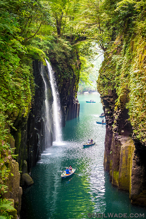 The Takachiho Gorge and waterfalls in Kyushu, Japan.
