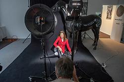 Henk van Cauwenbergh, Zoe Conter<br /> Foto shoot met Henk van Cauwenbergh voor KBRSF - Zaventem 2018<br /> © Hippo Foto - Dirk Caremans<br /> 01/05/2018