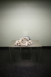 Jul. 25, 2012 - Money on table in interview room (Credit Image: å© Image Source/ZUMAPRESS.com)