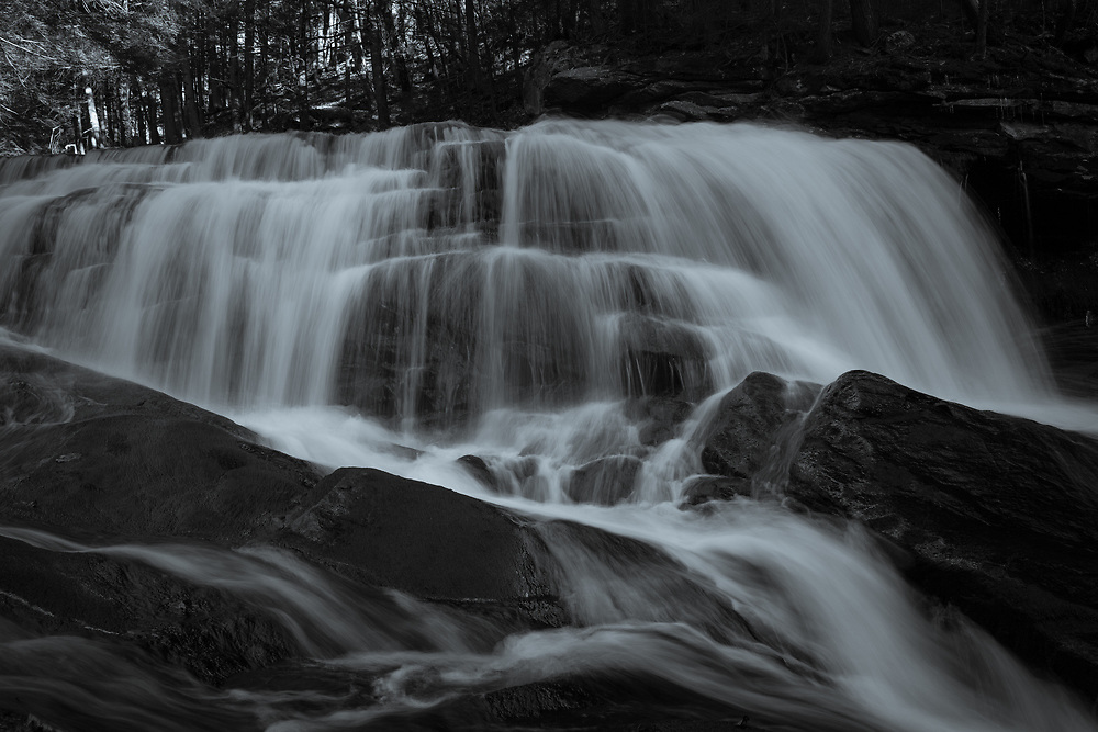 Cold autumn water flowing at Doane's Falls in the hills of Central Massachusetts.