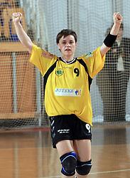 Maja Korun of Zalec  at Women Slovenian Handball Cup, finals match for third place between RK Celeia Zalec and ZRK Krka, on April 5, 2009, in Arena Tivoli, Ljubljana, Slovenia. Won of Krka 27:24. (Photo by Vid Ponikvar / Sportida)