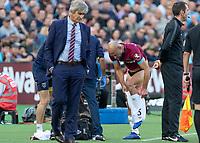 Football - 2018 / 2019 Premier League - West Ham United vs. Tottenham Hotspur<br /> <br /> Pablo Zabaleta (West Ham United) changes his shorts in a forst half that showed little action at the London Stadium<br /> <br /> COLORSPORT/DANIEL BEARHAM