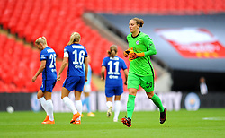 Ann-Katrin Berger of Chelsea Women- Mandatory by-line: Nizaam Jones/JMP - 29/08/2020 - FOOTBALL - Wembley Stadium - London, England - Chelsea v Manchester City - FA Women's Community Shield