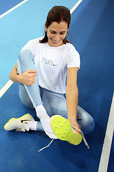 Slovenian triple jump athlete Marija Sestak at the afternoon warming up day before European Athletics Indoor Championships Torino 2009 (6th - 8th March), at Oval Lingotto Stadium,  Torino, Italy, on March 5, 2009. (Photo by Vid Ponikvar / Sportida)