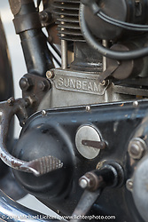 Kevin Waters' 1931 Sunbeam M9 on display at the hosted dinner stop at Hells Canyon Harley-Davidson in Lewiston, Idaho after Stage 14 - (284 miles) of the Motorcycle Cannonball Cross-Country Endurance Run, which on this day ran from Meridian to Lewiston, Idaho, USA. Friday, September 19, 2014.  Photography ©2014 Michael Lichter.