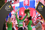 Podium, Peter Sagan (SVK - Bora - Hansgrohe) Green Jersey during the 105th Tour de France 2018, Stage 21, Houilles - Paris Champs-Elysees (115 km) on July 29th, 2018 - Photo Kei Tsuji / BettiniPhoto / ProSportsImages / DPPI