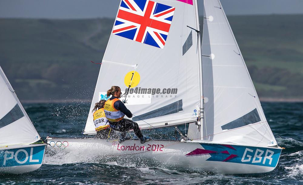 Clark Saskia, Mills Hannah, (GBR, 470 Women)<br /> <br /> 2012 Olympic Games <br /> London / Weymouth