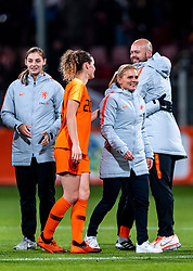 09-11-2018 NED: UEFA WC play-off final Netherlands - Switzerland, Utrecht<br /> European qualifying for the 2019 FIFA Women's World Cup - Coach Sarina Wiegman of Netherlands