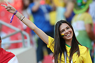 Fan of Brazil during the 2018 FIFA World Cup Russia, Group E football match between Erbia and Brazil on June 27, 2018 at Spartak Stadium in Moscow, Russia - Photo Thiago Bernardes / FramePhoto / ProSportsImages / DPPI
