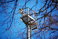 Ground shot of a floodlight during the EFL Sky Bet League 2 match between Stevenage and Bradford City at the Lamex Stadium, Stevenage, England on 5 April 2021.