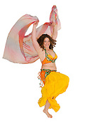 Egyptian style Belly dancer On white Background