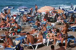Las Canteras beach at Las Palmas; Gran Canaria; Canary Islands,